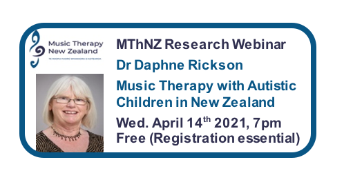 Music Therapy New Zealand 2021 Webinar Series #1