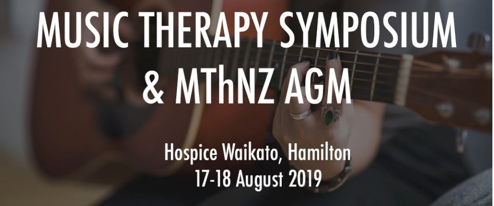 Save the date for the 2019 Music Therapy Symposium & MThNZ AGM