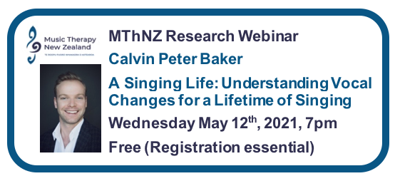 Music Therapy New Zealand 2021 Webinar Series #2